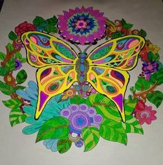 ColorIt Free Coloring Pages Colorist: Angela Earley #adultcoloring #coloringforadults #adultcoloringpages #freebiefriday #butterfly