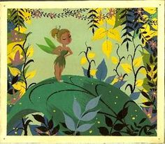 Mary Blair Concept of Tinkerbell from Peter Pan