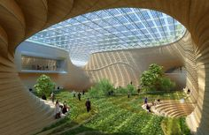 This sparks the imagination - an urban agricultural conservatory…