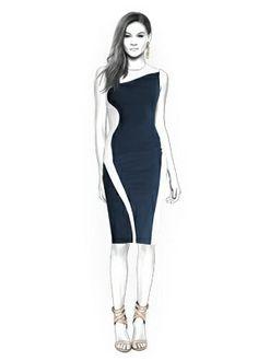 4349 PDF robe Couture patron - vêtements féminins, personnalisée pour votre taille faite sur commande