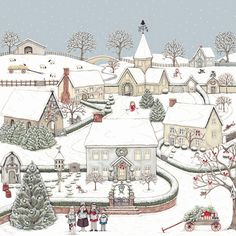 Christmas Snowy Village by Sally Swannell