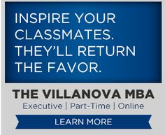 Simple Text only Banner Ad (Villanova MBA) Visually appealing without any imagery