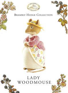 Knitting Pattern ALAN DART BRAMBLY HEDGE Lady Woodmouse Toy to Knit DK