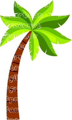 Tree Clipart, Vector Trees, Tree Stencil, Stencils, Coconut Vector, Beach Cafe, Hawaii Homes, Palm Trees, Flamingo