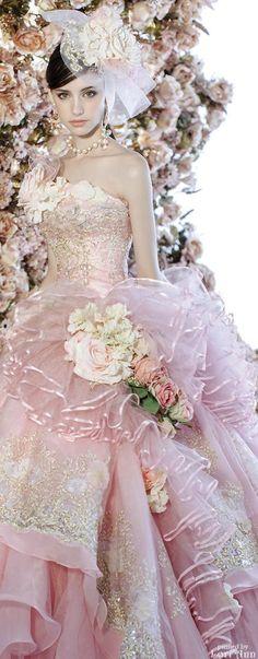 Stella de Libero. Pink dreamy gown. So beautiful. #RealistFashion