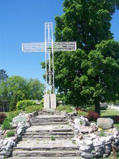 Our Lady of the Woods Catholic Shrine Cross ~  Mio, Michigan