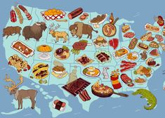 The United Steaks of America.  If every state had an official meat, what would it be? L.V. Anderson | Slate.com