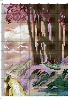 Cross stitch horse and foal 4