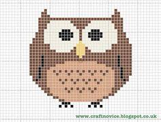 http://craftnovice.blogspot.co.uk/2013/01/free-cross-stitch-owl-pattern.html