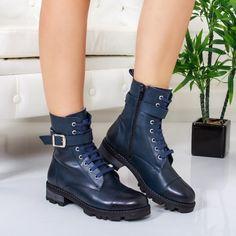 Bocanci Piele Suomi albastri imblaniti Biker, Tik Tok, Boots, Casual, Fashion, Crotch Boots, Moda, Fashion Styles, Shoe Boot