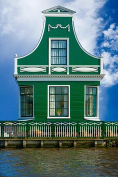 Traditional village house in Zaandam, The Netherlands