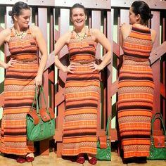 blog v@ LOOKS | por leila diniz: Dia 11 de 30 usando SÓ VESTIDOS! Hoje um vestido longo étnico HERING salvador na hora do atraso de manhã