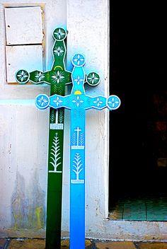 Crosses, San Cristobal de Las Casas, Chiapas.