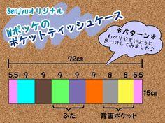 ポケットティッシュケースの作り方(Senjyuオリジナル) - ・・・Senjyu・・・