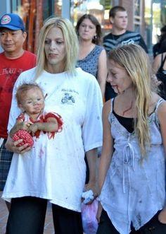 Déguisement-de-Zombie-femme-et-enfant