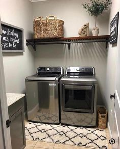 """Fascinating Small Laundry Room Design Ideas - COODECOR Figure out more details on """"laundry room storage diy"""". Visit our site. Laundry Room Shelves, Laundry Room Remodel, Farmhouse Laundry Room, Small Laundry Rooms, Laundry Room Organization, Laundry Room Design, Basement Laundry, Ideas For Laundry Room, Laundry Room Pictures"""