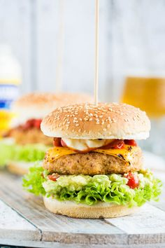 Chipotle Chicken Burger with Guacamole