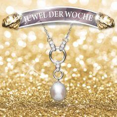 Hochwertige Silberkette aus 925 Sterling Silber mit Perlenanhänger. Die Silberkette ist nickelfrei. Die Kette ist 42cm lang. #pearls #gold #silver #JeweloftheWeek #Jewelry #Necklace