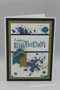 Stampin up gorgeous grunge male birthday card. Love my choice in colours for this one.