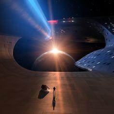 Star Trek enterprise d nacelle support Uss Enterprise D, Star Trek Convention, Starfleet Ships, Star Trek Images, Sci Fi Ships, Star Wars, Star Trek Starships, Star Track, Star Trek Universe