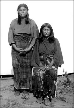 Commanche women photographed: 1892. - National Anthropological Archives, Smithsonian Institution. Glass Negatives of Indians (Collected by the Bureau of American Ethnology) 1850s-1930s.