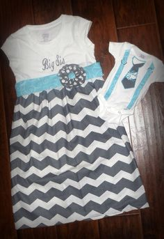 Matching Big Sis and Little Bro Outfits. Now I need this as a big sis little sis outfit! Big Sister Bag, Big Sister Gifts, Brother Sister, Baby Mine, Baby G, Baby On The Way, Our Baby, Baby Boy Outfits, Kids Outfits