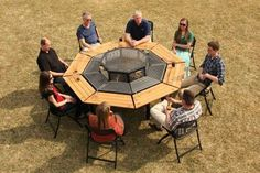 New Outdoor 8 Seat JAG Grill 3 in 1 Fire-Pit/Grill/Table Grill Barbecue - Barbecues, Grills & Smokers Fire Pit Grill Table, Fire Pit Chairs, Fire Pit Seating, Fire Table, Seating Areas, Garden Fire Pit, Fire Pit Backyard, Backyard Bbq, In Ground Fire Pit