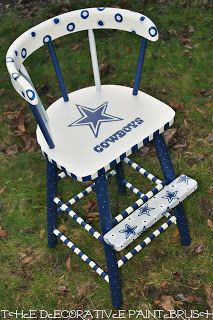 Charmant The Decorative Paintbrush, Designs By Mary Mollica: Dallas Cowboys Hand  Painted On High Chair