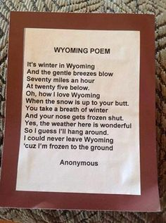 Wyoming Poem