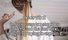 Just nevermind