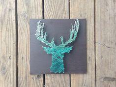 Hirsch Silhouette String Art  Geweih  anpassbare  von kimberlygeer