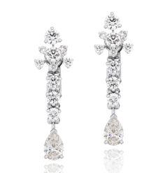The De Beers Lea earrings worn by Olga Kurylenko to the BAFTAs, set with 22 diamonds in platinum.