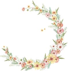 Hand-painted floral border PNG and Vector Brick Wallpaper, Paper Wallpaper, Iphone Wallpaper, Flower Frame, My Flower, Watercolor Cards, Watercolor Flowers, Paper Background Design, Corona Floral