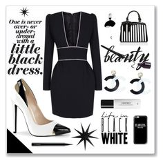 """""""Lil Black Dress"""" by numeangeleyes ❤ liked on Polyvore featuring The 2nd Skin Co., Chanel, Jezzelle, Context, Casetify, House Doctor and MAC Cosmetics"""