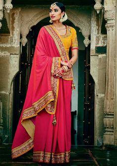 Charismatic Gajari Pink #Saree