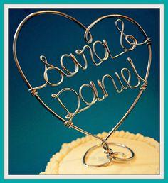 Wedding Cake Topper. $28.00, via Etsy.