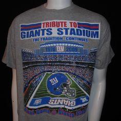 4187d86e2d04 New York Giants Stadium T-Shirt Large Final Game 1976-2009 NFL Football