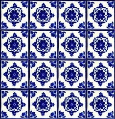 Spanish Tiles Blue On White Tile Moorish Kitchen Mosaic