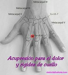 Acupresion para el dolor o rigidez del cuello.