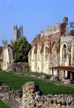 St. Augustine's Abbey, Canterbury - English Heritage. Open daily, April to September, Wednesday to Sunday through October, and weekends only, November to March.