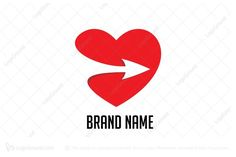 Logo for sale: Love And Arrow Logo by banjarneraka, uploaded on simple and memorable logo, suitable to describe the dating and romance or can be used for healthcare companies, also suitable for public service logo Speed Logo, Care Jobs, Arrow Logo, Service Logo, Brand Names, How To Memorize Things, Logo Design, Romance, Romantic
