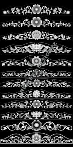stl File Size :- 15 MB (Autocad view in last blue colour image) Wood Carving Designs, Wood Carving Patterns, Zbrush, Motif Arabesque, Alpha Art, Boarder Designs, Cnc Cutting Design, Grayscale Image, Pinstriping Designs
