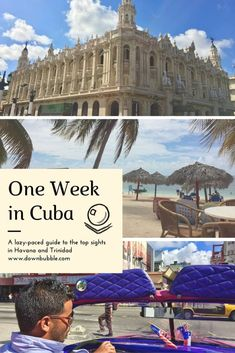 Got one week in Cuba? Take it easy with our guide to the top sights in Havana and Trinidad. Get your fix of beach, latin music, political history, notable figures and more, not to be missed whilst in Cuba! Click through to the website for 10 ideas across two locations and including a suggested Hemingway self-guided pub crawl itinerary!
