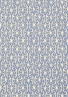 Rinca #wallpaper in #blue from the Biscayne collection. #Thibaut