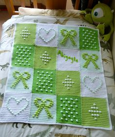 Ravelry: debbieredman's Lime green bobbly squares