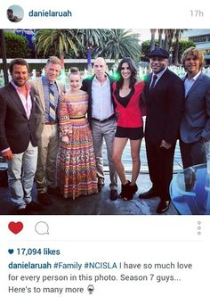 Eric olsen aka deeks and daniela ruah aka kensi ncis los angeles season 7 party ll cool j chris odonnel
