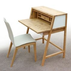 104 Best images in 2020 Smart Furniture, Classic Furniture, Metal Furniture, Furniture Making, Furniture Design, Table Saw Accessories, Desks For Small Spaces, Home Desk, Wooden Desk