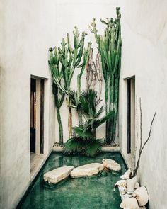 "design-art-architecture: ""Philip Dixon's house in Venice, California. Deco Design, Design Art, Exterior Design, Interior And Exterior, Venice Beach House, Dixon Homes, Mediterranean Decor, Mediterranean Architecture, Pool Houses"