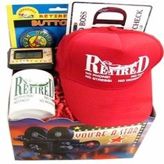 This retirement gift basket for men makes a wonderful retirement gift for a party.
