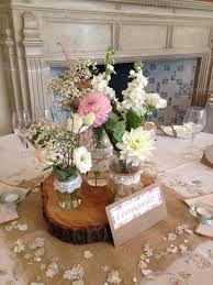 Image result for jam jar wedding flowers